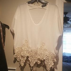 Astr sikly shirt top blouse cream medium boho